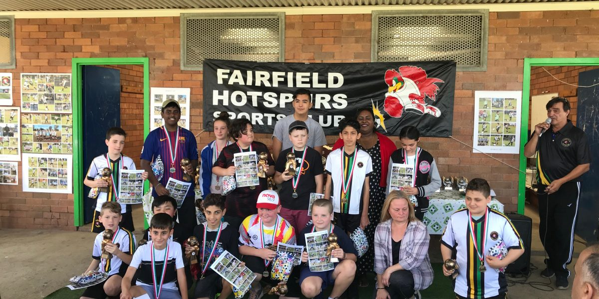 Fairfield Hotspurs welcome ALDI MiniRoos and Juniors for presentation ceremony