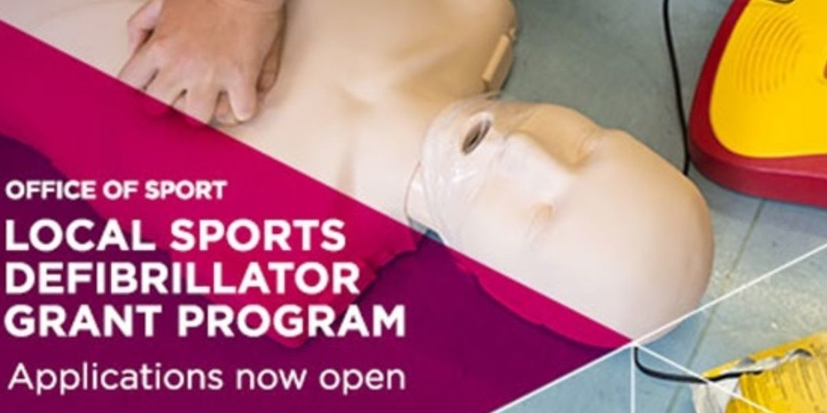 Local Sport Defibrillator Grant Program Applications Open
