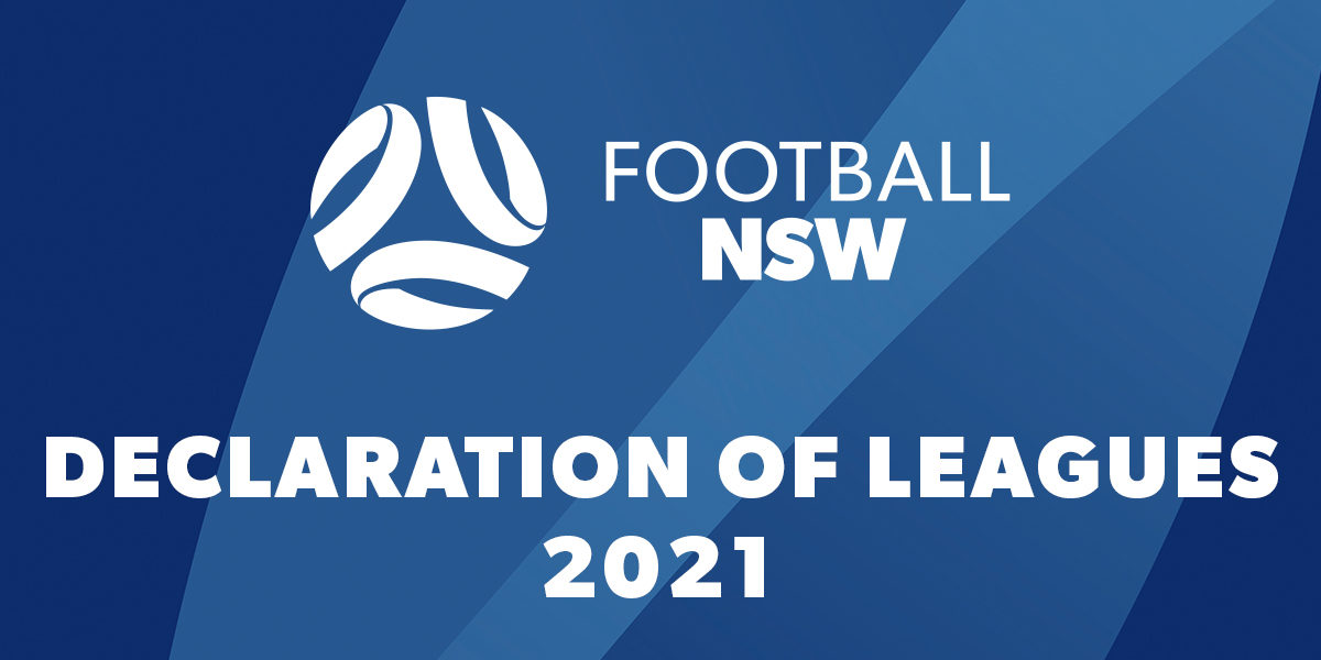 Football NSW 2021 Declaration of Leagues